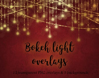 Gold light clipart, Christmas light clipart, gold light overlay, gold bokeh overlay, gold bokeh clipart, fairy lights, overlay, DOWNLOAD