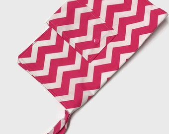 Nappy Diaper Clutch - Pink Chevron - CLEARANCE