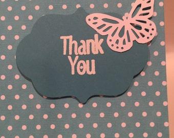 Thank You Card. Thank You Handmade Card. Friend Card. Handmade Friend Card, Friendship Card, Friend Cards, Cute Cards, Handmade Cards.