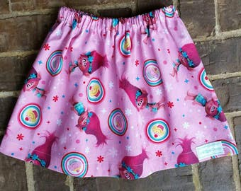 Girls Pink Poppy Troll Skirt to go with a cute shirt