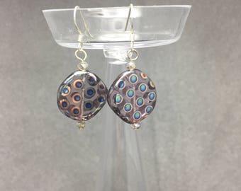 Purple Polka Dots Earrings
