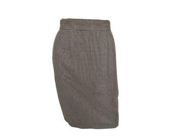 Vintage 80's Houndstooth Pencil Skirt