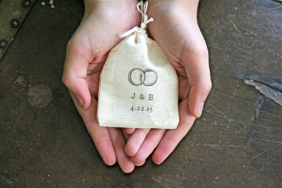 Personalized wedding ring bag cotton ring bag ring pillow