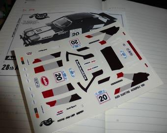 1:43 decals for Audi Quattro Gr.4 Rally Akropolis 1981 #20 Mouton/Pons Record-Miniminiera 10205