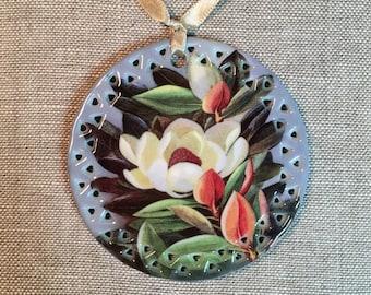 Magnolia Flower Christmas Tree Ornament