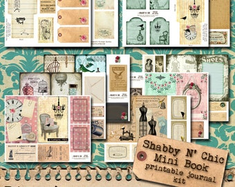 Shabby N Chic - Printable Junk Journal Kit