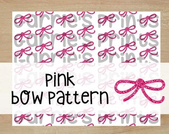 Printable | Pink Think Bow Pattern |