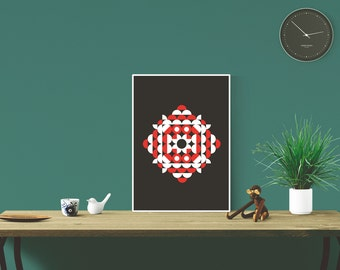 Copenhagen Danish Inspired Geomtric Graphic Design Art Print
