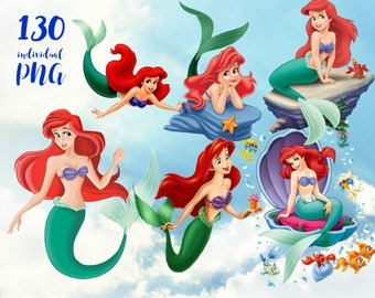 The Little Mermaid  Clipart,  Disney Clipart Princess Clipart