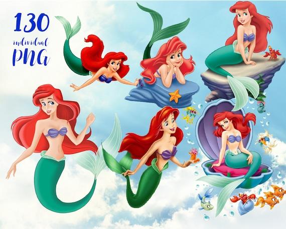 the little mermaid clipart disney clipart princess clipart rh etsy com little mermaid clipart images little mermaid 2 clipart
