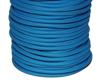2 blue electric textile cable wire - 0.75 mm 2