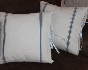 Grain Sack Pillow Cover Set 18 inch