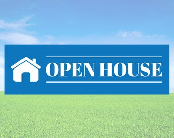 Open House - Business Office Store Front Banners