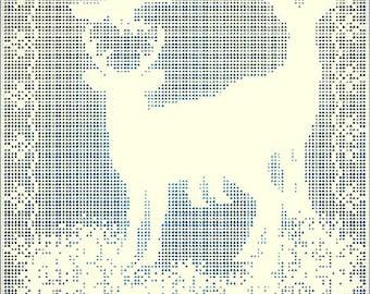 Reindeer Totem Filet Crochet Patter PDF