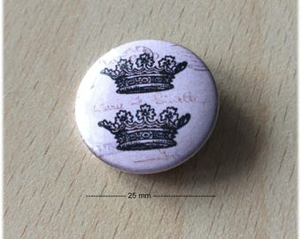 "badge 25 mm ""Crown 03"""
