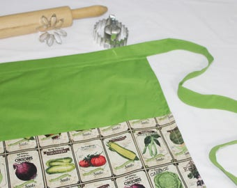 Vegetable Seeds Adult Apron - green