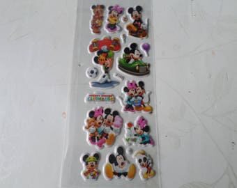 x 1 Santa Claus stickers tickers Minnie/Mickey multicolored 3D laminated