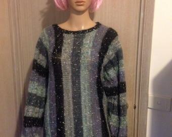 80's striped knit