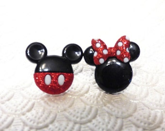 Mickey and Minnie Mouse Earrings