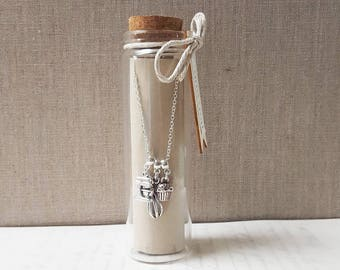 Baking Charm Necklace in a Bottle - Necklace - Baking Gift - Baking Gift Ideas - Gift For Her - Multi Charm Necklace - Vintage - Zamsoe