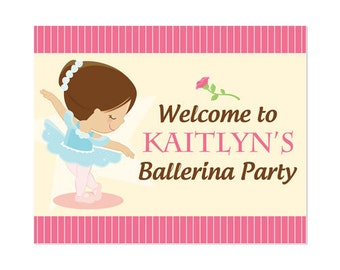 50% Off Sale! - PRINTABLE Ballet Party Welcome Sign