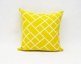 PILLOW COVERS | Yellow and White | Cotton | Home Decor | ALPHONSINA