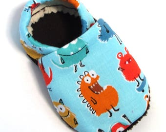 Monster Soft Soled Baby Shoes 0-6 mo