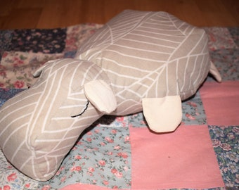 Cute Hippo, sof toy, cuddly toy, kapok, cotton plush, eco and baby friendly