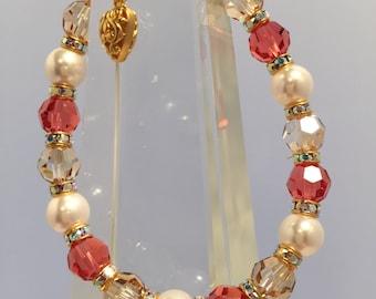 Heart Centered - Gold - Therapeutic, Healing Energy Bracelet Swarovski Crystal