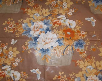 Retired Jay Yang Polished Cotton Chintz fabric Woodco 2 yards screen print