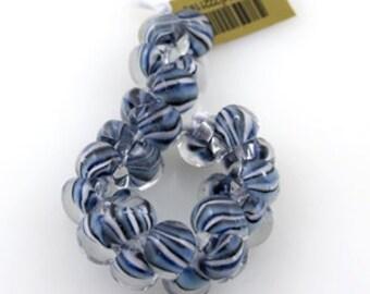 5 Sea ScalesTeardrop Handmade Lampwork Beads - 10mm (2211)