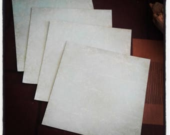 Set of 4 sheets of paper for scrapbooking 15 cm x 15 cm