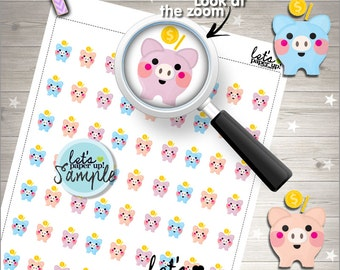 60%OFF - Saving Stickers, Printable Planner Stickers, Kawaii Stickers, Moneybox Stickers, Planner Accessories, Cute Stickers, Functional