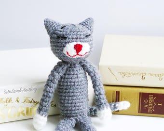 Amineko kat, haak de kat, amigurumi haak speelgoed haken, haak knuffeldier, gehaakte dieren, gehaakte knuffel, haak pluche, zacht speelgoed