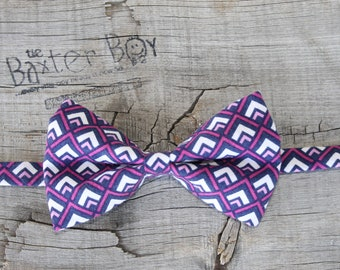 READY TO SHIP ---- Magenta Purple Mountains Bow Tie for little boys - photo prop, wedding, ring bearer, accessory