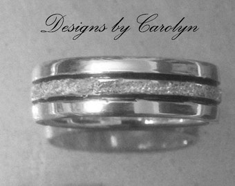 Stardust Sterling Silver Band CSS143R