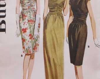 1960s Evening Gown, Dress Pattern, Butterick 2970, Vintage Sewing, Shirred Midriff, Bust 34