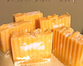 Hand Made Soap - dreamsicle orange