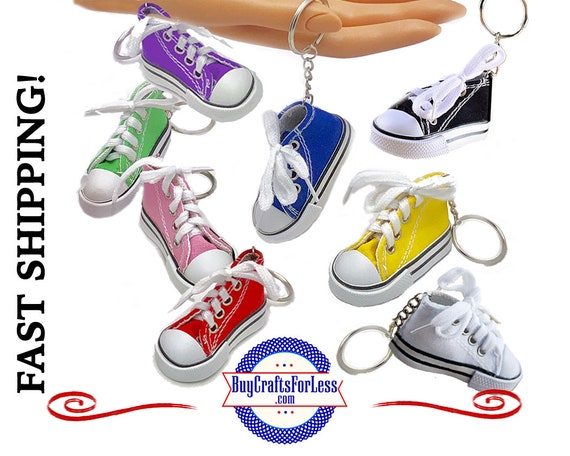 Canvas SNEAKER KeY RiNG, choose from 9 Colors +1.99 Shipping & Tracking,Discounts*