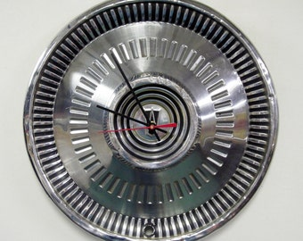 1964 Ford Fairlane Hubcap Wall Clock - Retro Car Part Clock