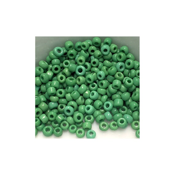 11/0 Shades of Green Mix Seed Beads 5gm