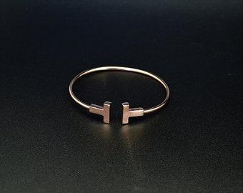 """T """"Grasse"""" rose gold Bangle Bracelet"""