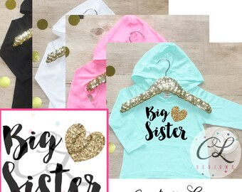 Big Sister Shirt / Baby Girl Clothes Shirt Sibling Shirt Family Pictures New Baby Announcement Shirt Big Sister Announcement Big Sister 002