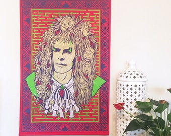 Labyrinth-inspired David Bowie Wall Hanging