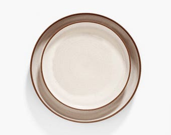 Ceramic Plate, brown, white, wedding gift, Serving Plate, Ceramic Dinnerware, Pottery plate, Serving Tray, Modern Tableware, Handmade Plate
