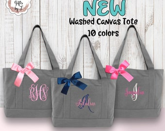 Bridesmaid Tote Bags, Maid of Honor Tote, Personalized Bridesmaid Bags, Bridal Party Bridesmaid Gifts Canvas Tote