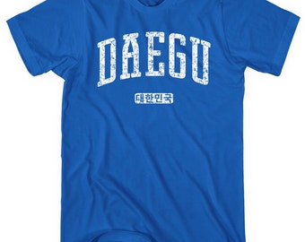 Daegu Korea T-shirt - Men and Unisex - XS S M L XL 2x 3x 4x - South Korea Tee - 4 Colors