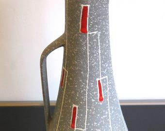 Fabulous vintage 1950s-60s D&B ceramic vase. Vtg West German pottery