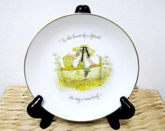 Cadeau pour une assiette en porcelaine collection petit ami 1973 HOLLY HOBBIE