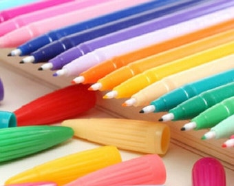Candy colors  gel pen / watercolor pen(one order come with 6 colors)